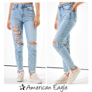 🔥American Eagle Ripped Mom Jeans size 16 NWTS-$70
